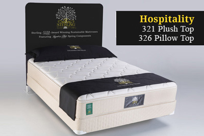 hospitality 321 plush top 326 pillow top