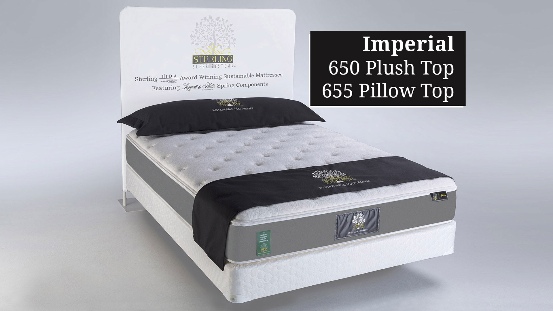 imperial 650 plush top 655 pillow top mattress sterling sleep
